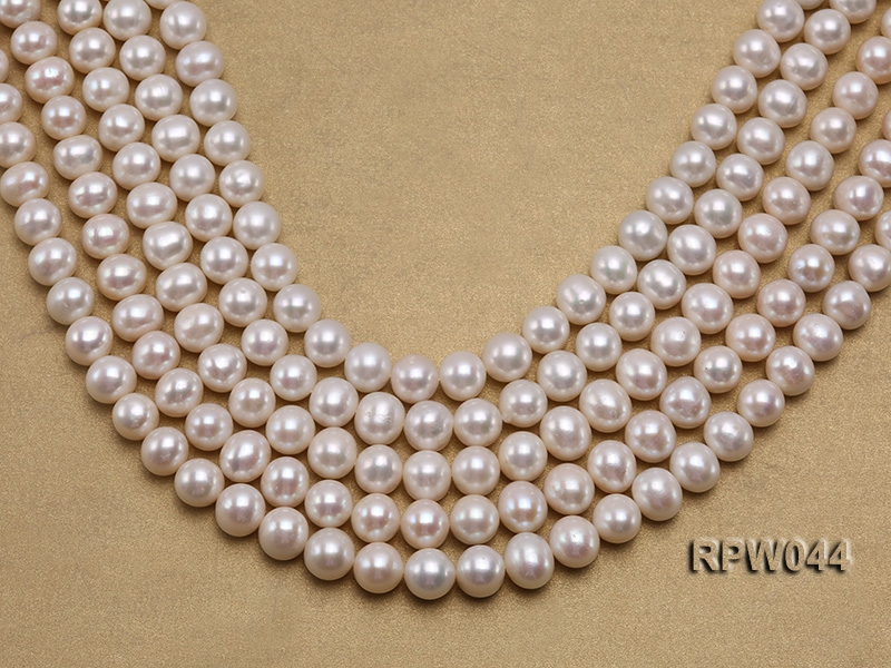 Wholesale 11-12mm White Round Freshwater Pearl String
