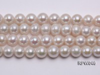 12-14mm Classic White Round Edison Pearl Loose String