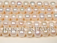 Wholesale 6.5-7.5mm Classic White Round Freshwater Pearl String
