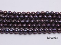 Wholesale AAA-grade  8-9mm Black Blue Round Freshwater Pearl String