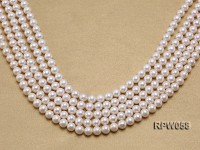 Wholesale 8mm Classic White Round Freshwater Pearl String