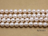 Wholesale Nice-quality 10-11mm Classic White Round Freshwater Pearl String