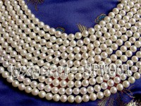 7.5-8mm White Round Seawater Pearl String