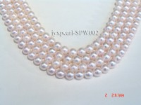 7.5-8mm Pink Round Seawater Pearl String