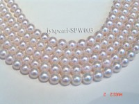 7-7.5mm Pink Round Seawater Pearl String