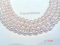 7-7.5mm White Seawater Pearl String