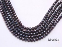 Wholesale 8-9mm Black Round Freshwater Pearl String