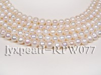 Wholesale 9-11mm Classic White Round Freshwater Pearl String