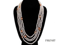 8-8.5mm natural white round freash water pearl necklace