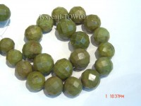 Wholesale 20mm Round Green Faceted Turquoise Beads String