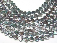 Wholesale 10-11mm Black Triangle Cultured Freshwater Pearl String