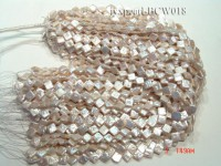 Wholesale 9mm Classic White Rhombic Cultured Freshwater Pearl String