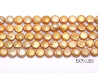 Wholesale 12-13mm Classic White Button-shaped Cultured Freshwater Pearl String
