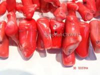 Wholesale 30-40mm Irregular Red Coral Sticks Loose String
