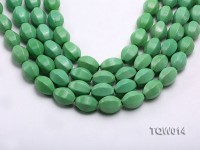 Wholesale 13x18mm Faceted Oval Green Turquoise Beads String
