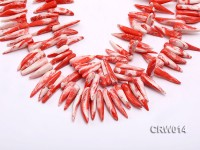 Wholesale 20-40mm Chili-shaped Pink Coral Sticks Loose String