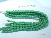 Wholesale 7.5x12mm Faceted Oval Green Turquoise Beads String