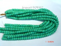 Wholesale 9.3mm Wheel-shaped Green Turquoise Beads String