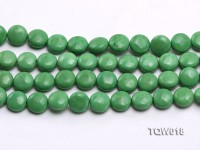 Wholesale 12.5mm Oblate Green Turquoise Beads String