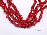 Wholesale 7-11mm Irregular Red Coral Chips Loose String