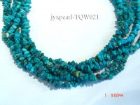 Wholesale 5-6mm Baroque Blue Turquoise Chips String