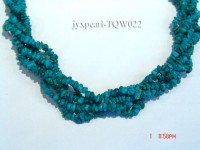 Wholesale 4-5mm Baroque Blue Turquoise Chips String