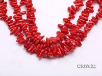 Wholesale 10-18mm Irregular Red Coral Chips Loose String