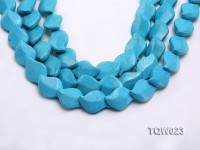 Wholesale 16x25mm Leaf-shaped Blue Turquoise Pieces String