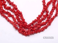 Wholesale 7-8mm Irregular Red Coral Chips Loose String