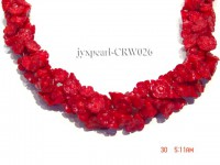 Wholesale 7x11mm Flower-shaped Red Coral Beads Loose String