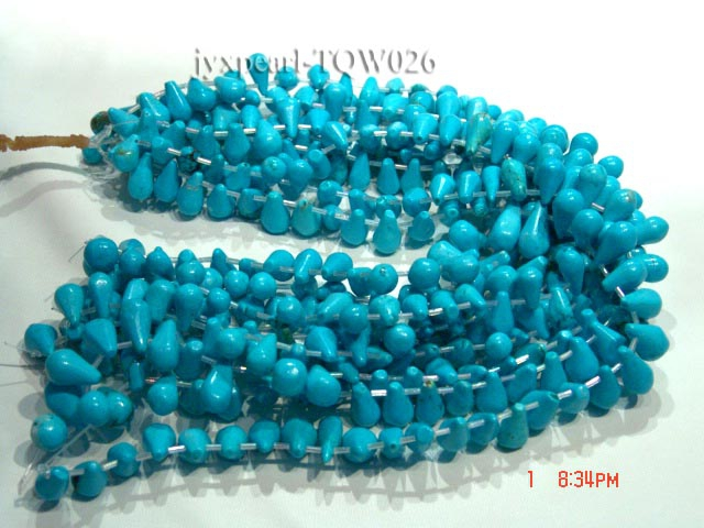 Wholesale 10x16mm Drop-shaped Blue Turquoise Beads String