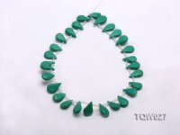 Wholesale 12x19mm Drop-shaped Green Turquoise Beads String