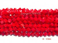Wholesale 8.5mm Cubic Red Coral Beads Loose String