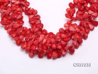 Wholesale 13x19mm Seed-shaped Red Coral Beads Loose String