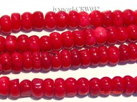 Wholesale 8.5mm Flat Red Coral Beads Loose String