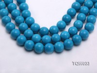 Wholesale 18mm Round Blue Turquoise Beads String