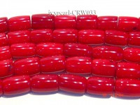 Wholesale 6x12mm Pillar-shaped Red Coral Beads Loose String