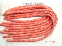 Wholesale 4x9mm Flat Pink Coral Beads Loose String