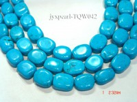 Wholesale 15x19mm Oval Blue Turquoise Beads String