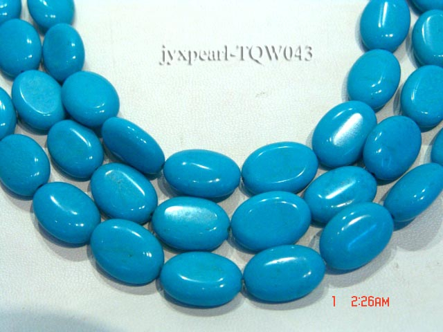 Wholesale 12x17mm Oval Blue Turquoise Beads String