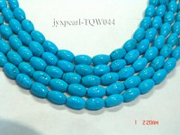 Wholesale 6x10mm Oval Blue Turquoise Beads String