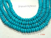 Wholesale 9mm Wheel-shaped Blue Turquoise Beads String