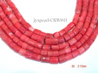 Wholesale 8×8.5mm Pillar-shaped Pink Coral Beads Loose String