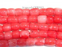 Wholesale 6×6.5mm Pillar-shaped Pink Coral Beads Loose String