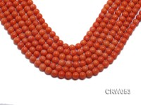 Wholesale 8mm Round Orange Coral Beads Loose String