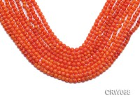Wholesale 4-5mm Round Orange Coral Beads Loose String