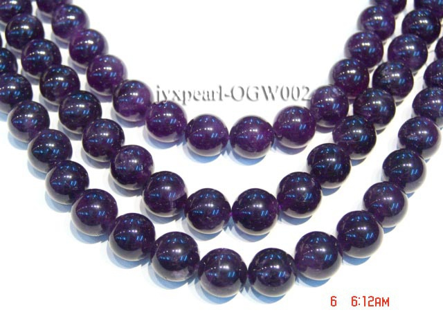Wholesale 16mm Round Translucent Amethyst Beads String
