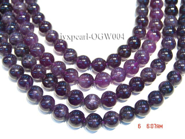 Wholesale 11.5mm Round Translucent Amethyst Beads String