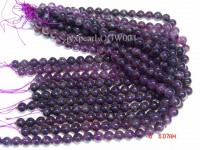 Wholesale 11.5mm Round Translucent Amethyst Beads String