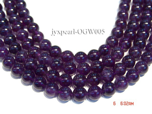 Wholesale 10mm Round Translucent Amethyst Beads String